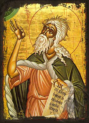 Holy Prophet Elias - Aged Byzantine Icon