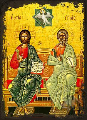 Holy Trinity - Aged Byzantine Icon