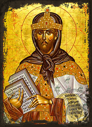 Moses the Prophet - Aged Byzantine Icon