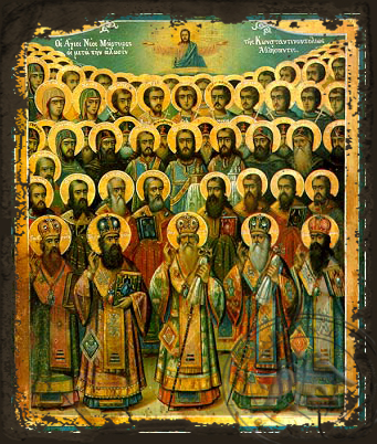 New Martyrs of Constantinople's Fall - Aged Byzantine Icon