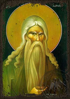 Saint Abraham the Righteous - Aged Byzantine Icon