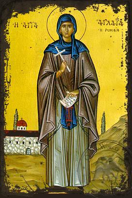 Saint Aglaia - Aged Byzantine Icon