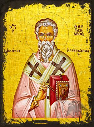 Saint Alexander, Patriarch of Alexandria - Aged Byzantine Icon