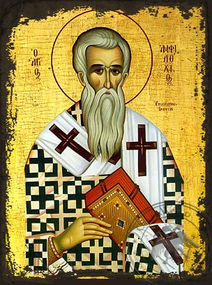 Saint Amphilochios - Aged Byzantine Icon