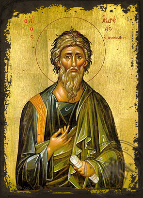 Saint Andrew the Apostle, the First-Called - Aged Byzantine Icon