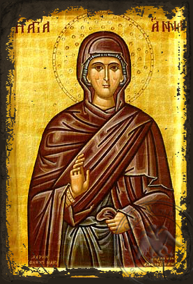 Saint Anne - Aged Byzantine Icon