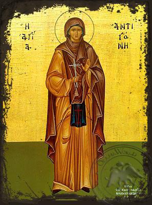 Saint Antigoni Full Figure - Aged Byzantine Icon