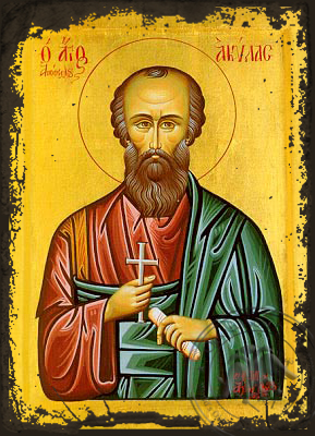 Saint Aquila the Apostle - Aged Byzantine Icon