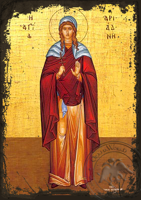 Saint Ariadne Full Figure - Aged Byzantine Icon