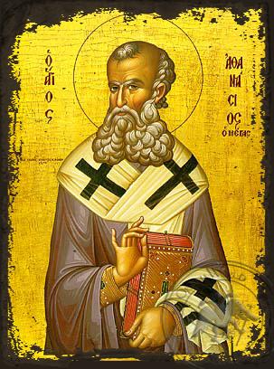 Saint Athanasius the Great - Aged Byzantine Icon