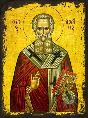 Saint Athanasius the Great, Patriarch of Alexandria - Aged Byzantine Icon