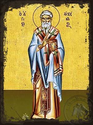 Saint Auxentius Hieromartyr at Sebaste Full Body - Aged Byzantine Icon