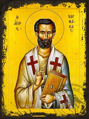 Barnabas the Apostle - Aged Byzantine Icon