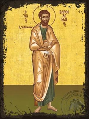 Saint Bartholomew the Apostle Full Body - Aged Byzantine Icon