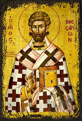 Saint Bessarion - Aged Byzantine Icon