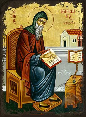 Saint Kassianos of Rome - Aged Byzantine Icon