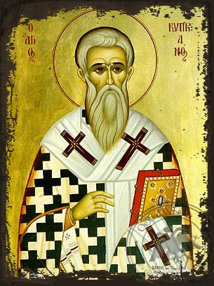 Saint Cyprian - Aged Byzantine Icon