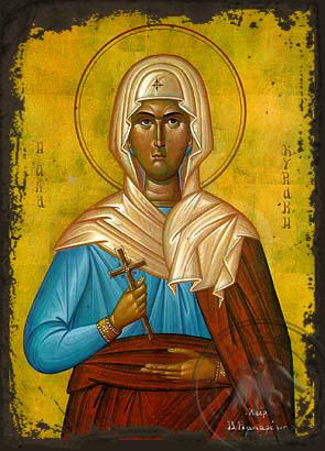 Saint Cyriaca, Martyr - Aged Byzantine Icon
