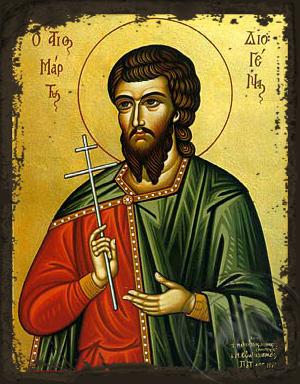 Saint Diogenes - Aged Byzantine Icon