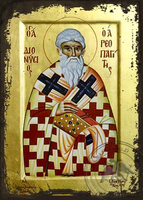 Saint Dionysius the Areopagite - Aged Byzantine Icon