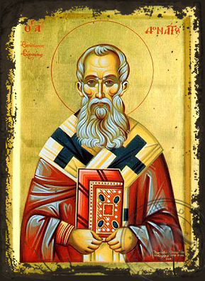 Saint Donatos - Aged Byzantine Icon