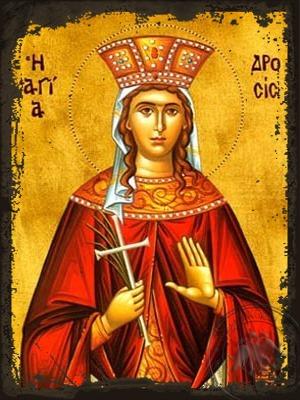 Saint Drosis (Drosida) of Antioch Martyr - Aged Byzantine Icon