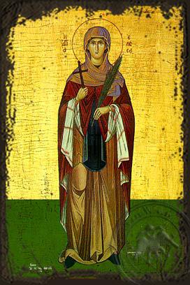 Saint Elesa of Kythera - Aged Byzantine Icon