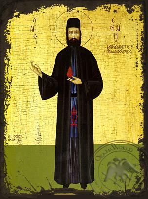 Saint Ephraim of Mount Amomon - Aged Byzantine Icon