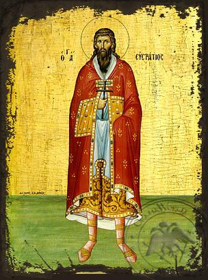 Saint Epiphanios - Aged Byzantine Icon