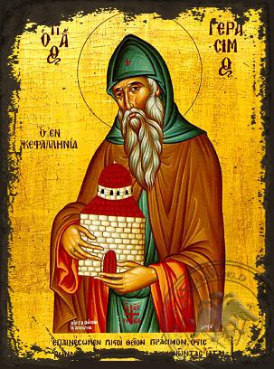 Saint Gerasimos - Aged Byzantine Icon