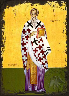 Saint Gregory, Bishop of Agrigentum, Full Body - Aged Byzantine Icon