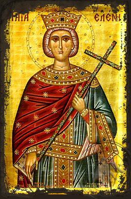 Saint Helen - Aged Byzantine Icon
