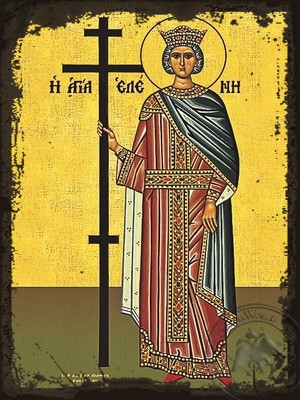 Saint Helen Full Body - Aged Byzantine Icon