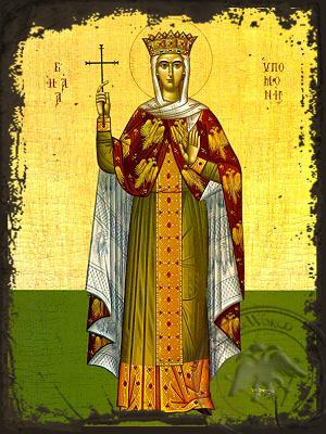 Saint Hypomone, Full Body - Aged Byzantine Icon