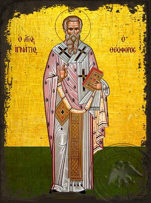 Saint Ignatius of Antioch - Aged Byzantine Icon