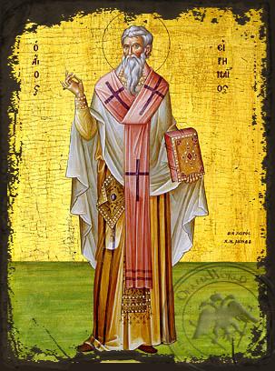 Saint Irenaeus - Aged Byzantine Icon