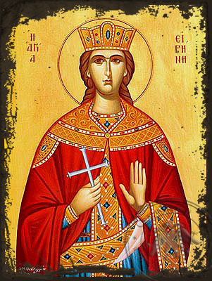 Saint Irene, the Great Martyr - Aged Byzantine Icon