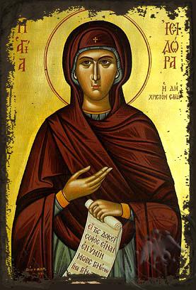 Saint Isidora - Aged Byzantine Icon