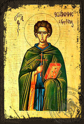 Saint John the Kalybites - Aged Byzantine Icon