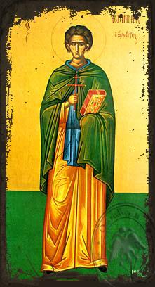 Saint John the Kalabytes (Hut-Dweller), Full Body - Aged Byzantine Icon
