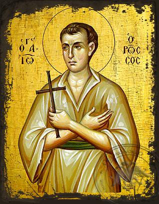 Saint John the Russian - Aged Byzantine Icon
