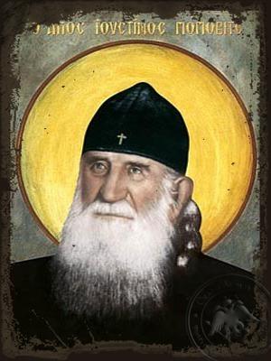 Saint Justin Popovich - Aged Byzantine Icon