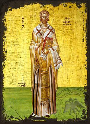 Saint Leonidas of Athens - Aged Byzantine Icon