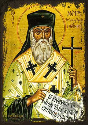 Saint Mark, Archbishop of Ephesus - Aged Byzantine Icon