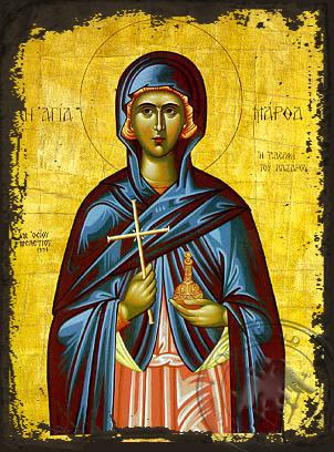 Saint Martha Sister of Lazarus - Aged Byzantine Icon
