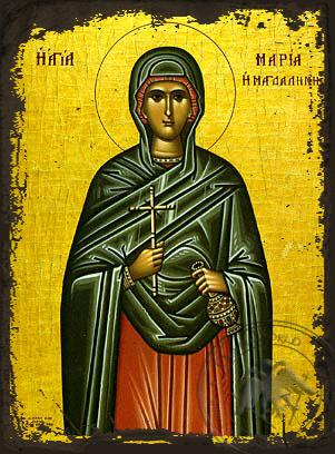 Saint Maria Magdalene - Aged Byzantine Icon