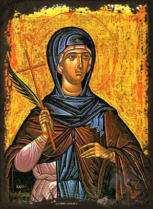Saint Matrona of Chios - Aged Byzantine Icon