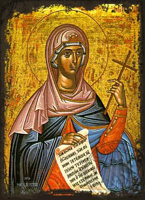 Saint Maura - Aged Byzantine Icon