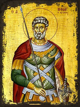 Saint Menas - Aged Byzantine Icon