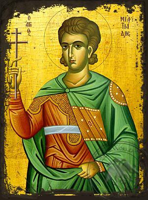 Saint Miltiades - Aged Byzantine Icon
